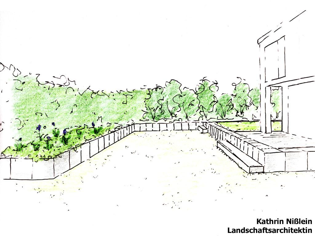 Landschaftsarchitektur Garten Skizze ~ Kreative Bilder für zu ...