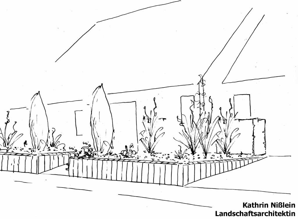 Landschaftsarchitektin Kathrin Nißlein - Referenzen - Vorgarten in ...